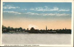 View of Plattsburgh, N. Y. From Lake Champlain.