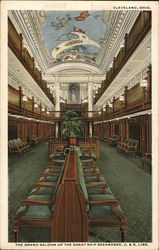 The Grand Saloon of the Great Ship Seeandbee, C. & B. Line
