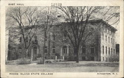 Rhode Island State College - East Hall