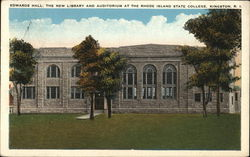 Rhode Island State College - Edwards Hall, Library and Auditorium