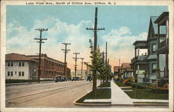 Lake View Avenue, North of Clifton Avenue Postcard