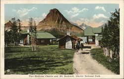 Two Medicine Chalets and Mt. Rockwell, Glacier National Park