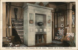 Hotel Escalante - Indian Room, Fireplace