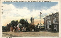 Washington Square showing Woman's Club House and Oxford Club