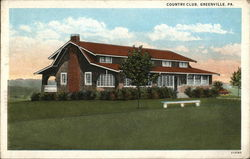 Greenville Country Club Postcard