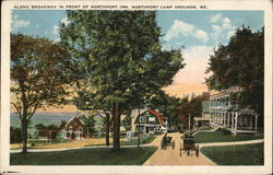 Along Broadway in Front of Northport Inn, Northport Camp Grounds
