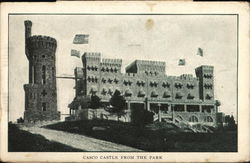 Casco Castle from the Park Postcard