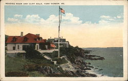 Reading Room and Cliff Walk, York Harbor, Me.