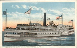 Steamer Louise On the Way to Tolchester Beach, Md.