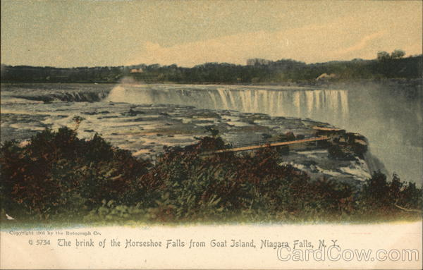 The Brind of the Horseshoe Falls from Goat Island Niagara Falls New York