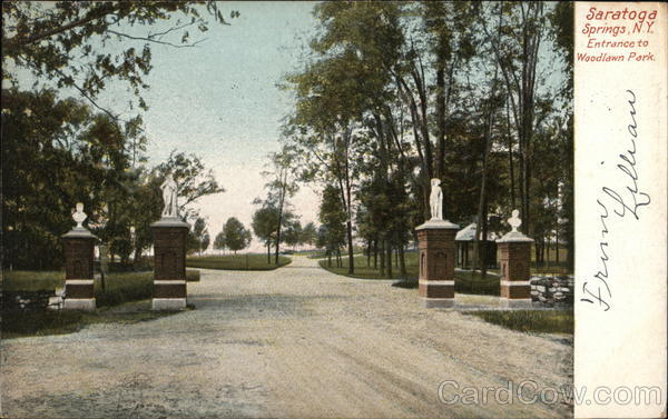 Entrance to Woodlawn Park Saratoga Springs New York