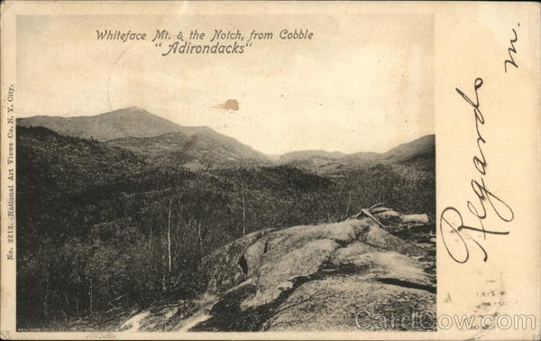 Whiteface Mt. and the Notch from Cobble, Adirondacks New York