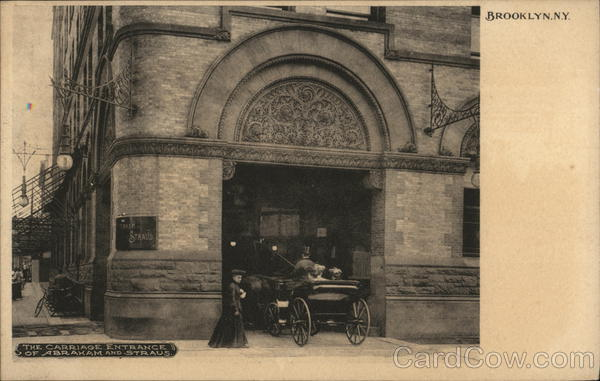 Abraham and Straus - Carriage Entrance Brooklyn New York
