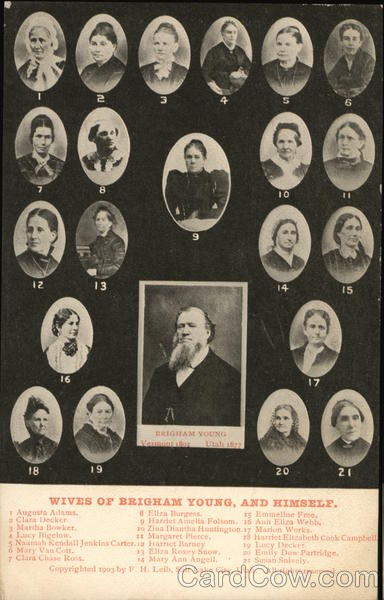 21 Wives of Brigham Young and Himself