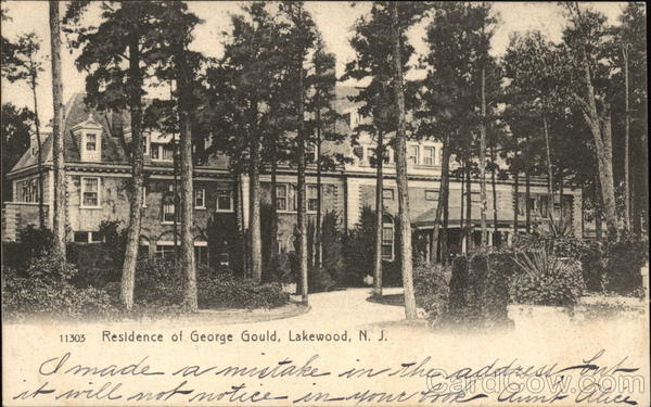 Residence of George Gould Lakewood New Jersey