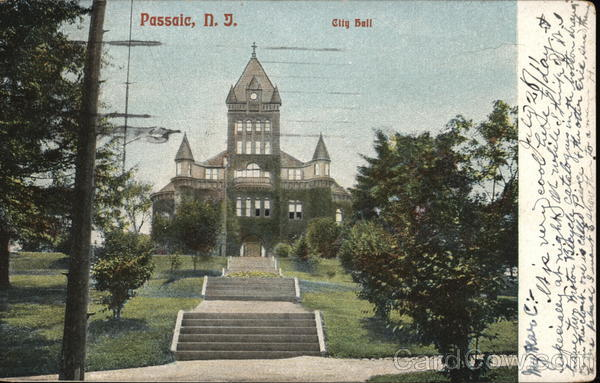 City Hall Passaic, NJ Postcard