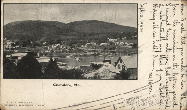View of Town Camden Maine
