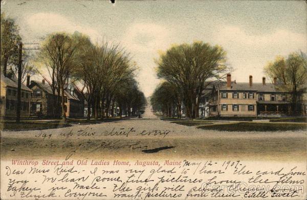 Winthrop Street and Old Ladies Home Augusta Maine