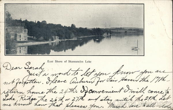 East Shore, Skaneateles Lake New York