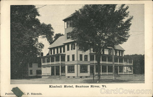 Kimball Hotel Saxtons River Vermont