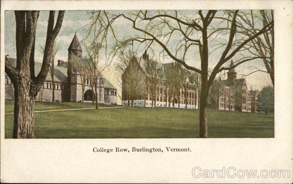 College Row Burlington Vermont
