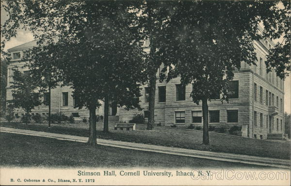 Cornell University - Stimson Hall Ithaca New York R. C. Osborne & Co.