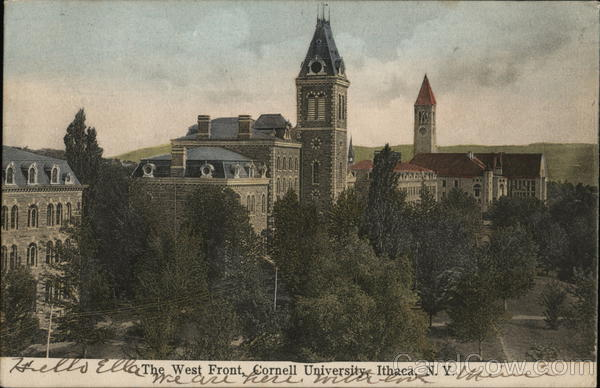 The West Front, Cornell University Ithaca New York