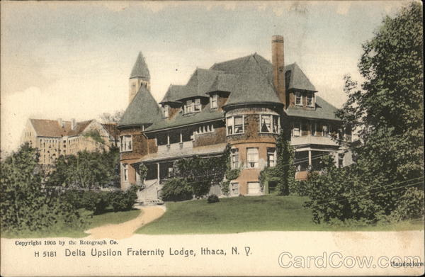 Delta Upsilon Fraternity Lodge Ithaca New York Fraternal