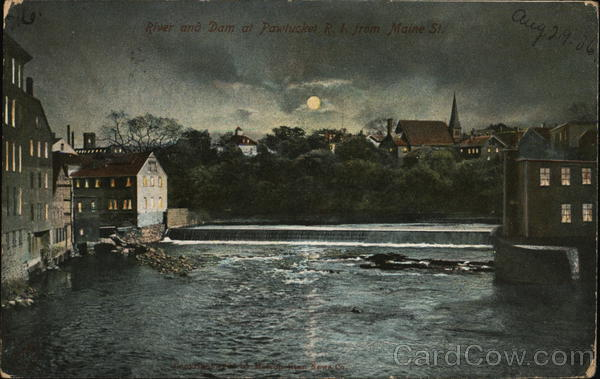 River and Dam from Maine St. Pawtucket Rhode Island