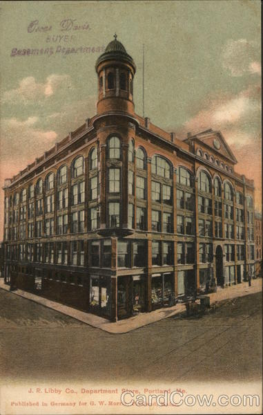 J. R. Libby Department Store Portland Maine