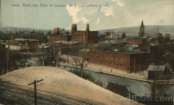 Birds Eye View of Cohoes New York