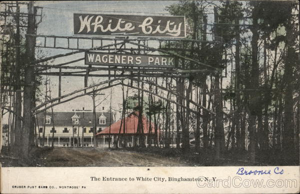 Entrance to White City - Wageners Park Binghamton New York