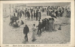 Beach Scene at Coney Island