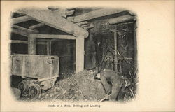 Inside of a Mine, Drilling and Loading