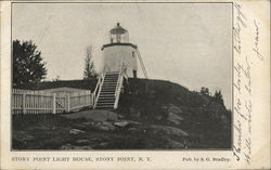 Stony Point Light House Postcard