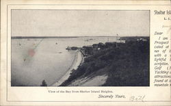 View of Bay from Shelter Island Heights Postcard