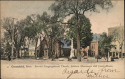 Second Congregational Church, Soldiers Monument and Court House
