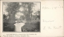 Old Dam House on Outlet of Lake Postcard