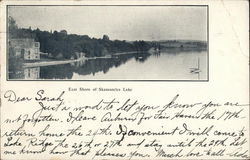 East Shore, Skaneateles Lake Postcard