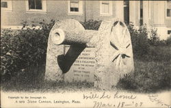 An 1879 Stone Cannon