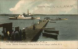 Steamer Frontenac, Landing at Park Dock, Cayuga Lake Park