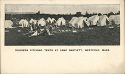 Soldiers Pitching Tents at Camp Bartlett
