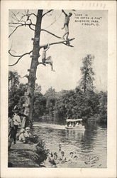 """Come In the Water Is Fine"", Riverside Park Postcard"