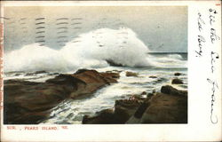 Waves on Rocks Postcard