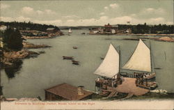 Entrance to Boothbay Harbor, Mouse Island on the Right