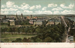 Birds Eye View of Back Bay showing Beacon Street