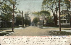 Washington Street Looking East from State Street Postcard