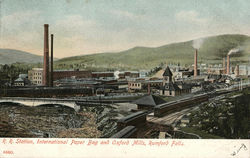 R. R. Station, International Paper Bag and Oxford Mills
