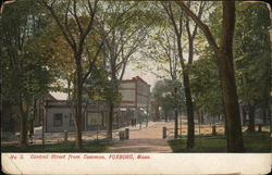 Central Street from Common Postcard
