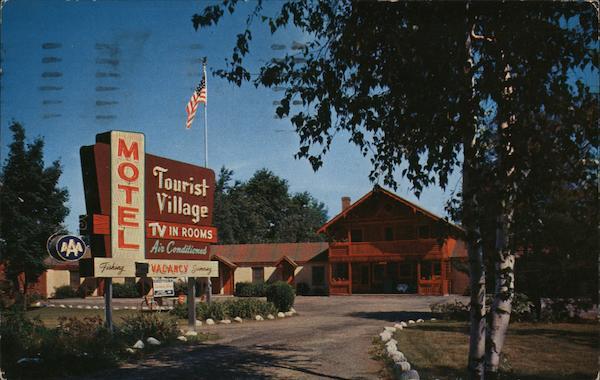 Tourist Village Motel Milford Pa Postcard